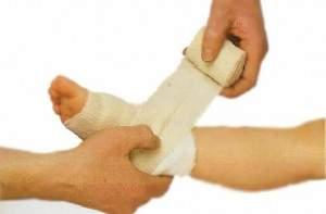 действия работника при оказании первой помощи при ушибах и растяжениях