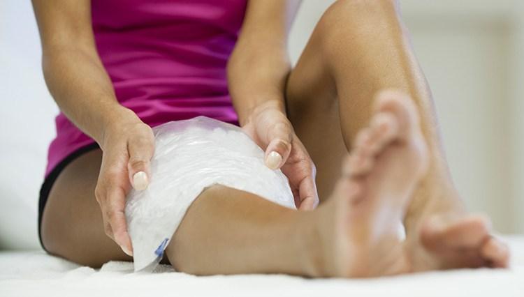 как сделать компресс на ногу при ушибе