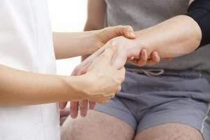 как снять отек после гипса на руке