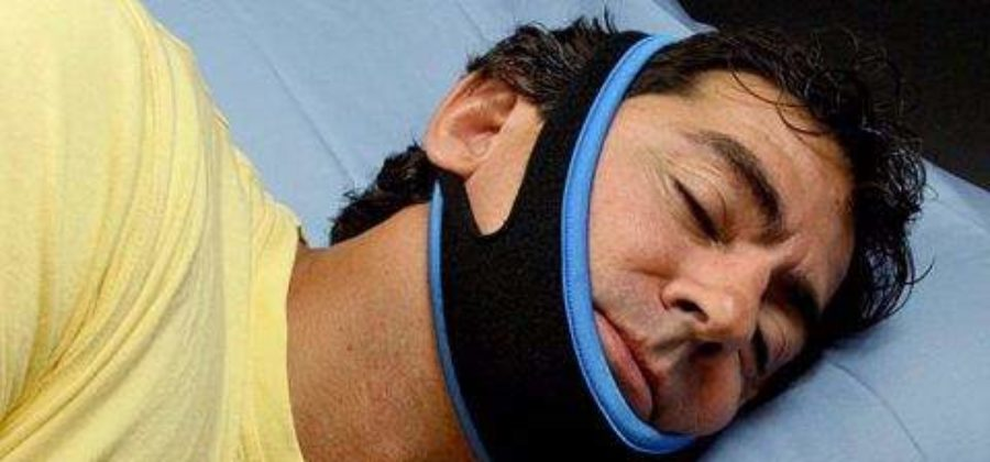 При переломе нижней челюсти необходима повязка пращевидная