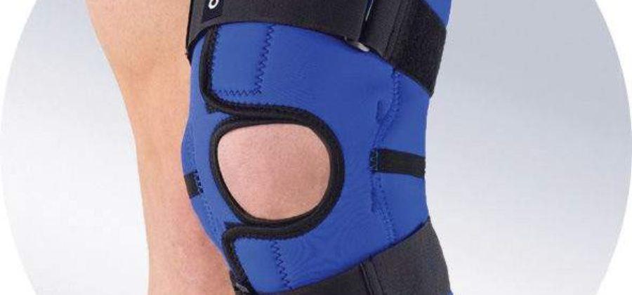 Наколенник для фиксации коленного сустава после перелома