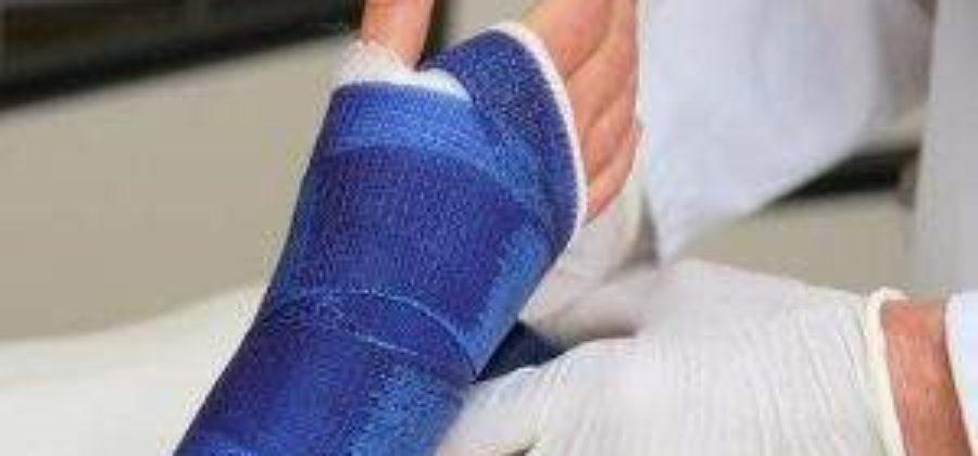 Лангета на руку при переломе лучевой кости